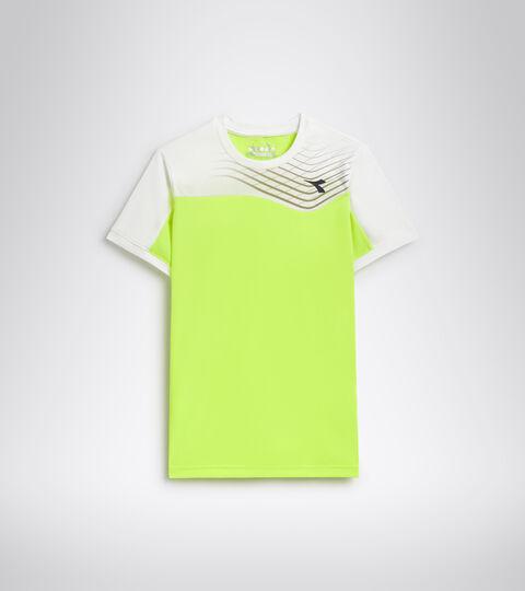 Camiseta de tenis - Junior J. T-SHIRT COURT AMARILLO FLUO DD - Diadora