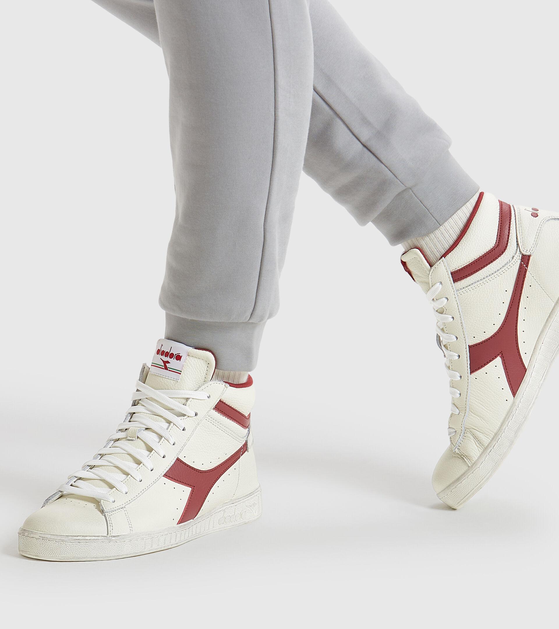 Sneaker - Unisex GAME L HIGH WAXED WEISS/ORANGE.COM - Diadora