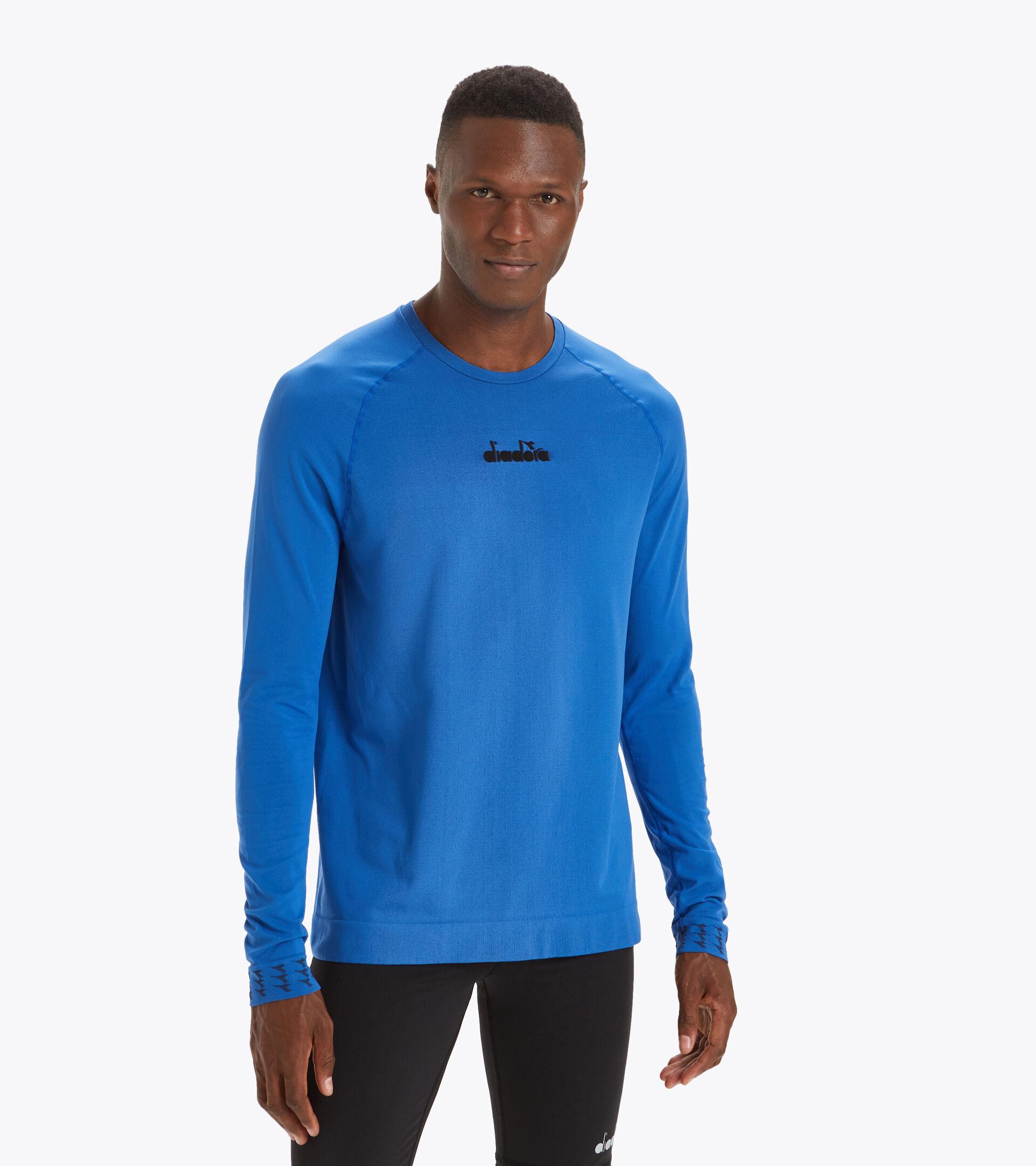 Apparel Sport UOMO LS SKIN FRIENDLY T-SHIRT FEDERAL BLUE Diadora