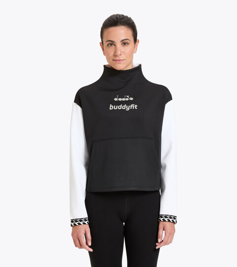 Workout-T-Shirt für Damen L. SWEAT BUDDYFIT SCHWARZ - Diadora