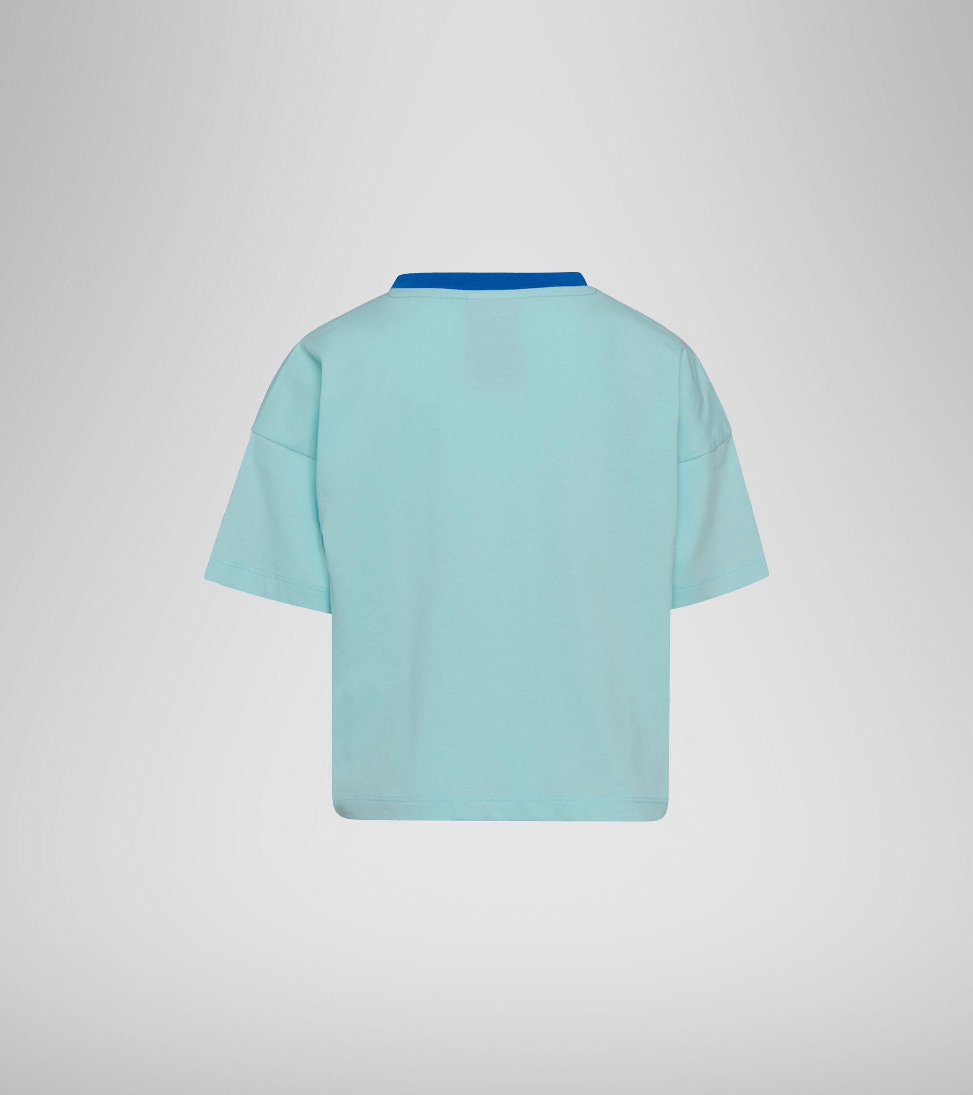 Apparel Sport BAMBINO JG. T-SHIRT SS LOGO MANIA TINT BLUE Diadora