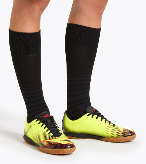 Footwear Sport UOMO BOMBER IDR JAUNE FLUO DD/NOIR/ROUGE FLUO Diadora