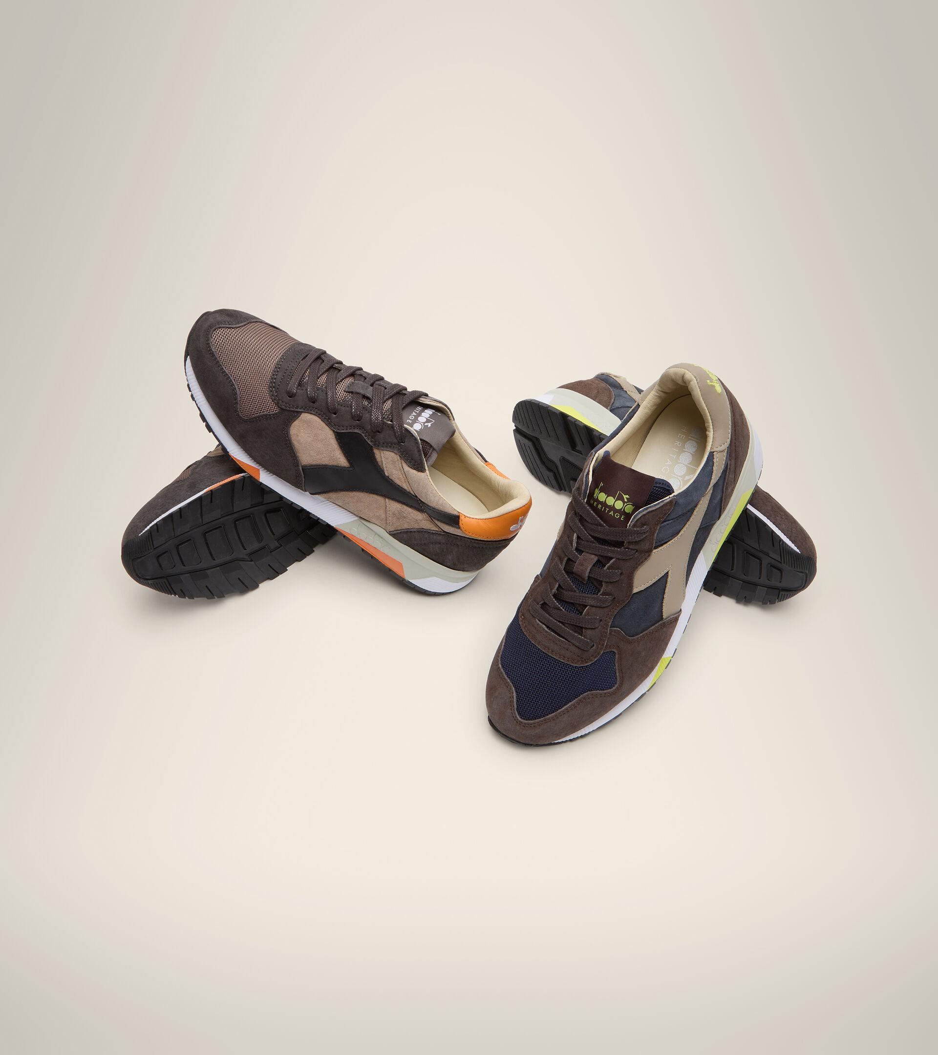 Footwear Heritage UOMO TRIDENT 90 SUEDE SW BLUE DENIM/BROWN TURKISH COFFE Diadora