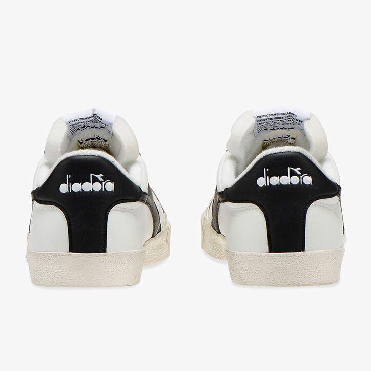 MELODY LEATHER DIRTY, WHITE /BLACK, large