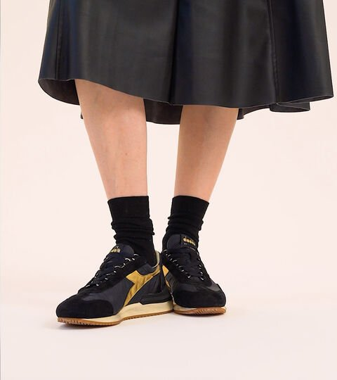 Heritage-Schuh Made in Italy - Damen EQUIPE MAD ITALIA LUNA WN SCHWARZ - Diadora