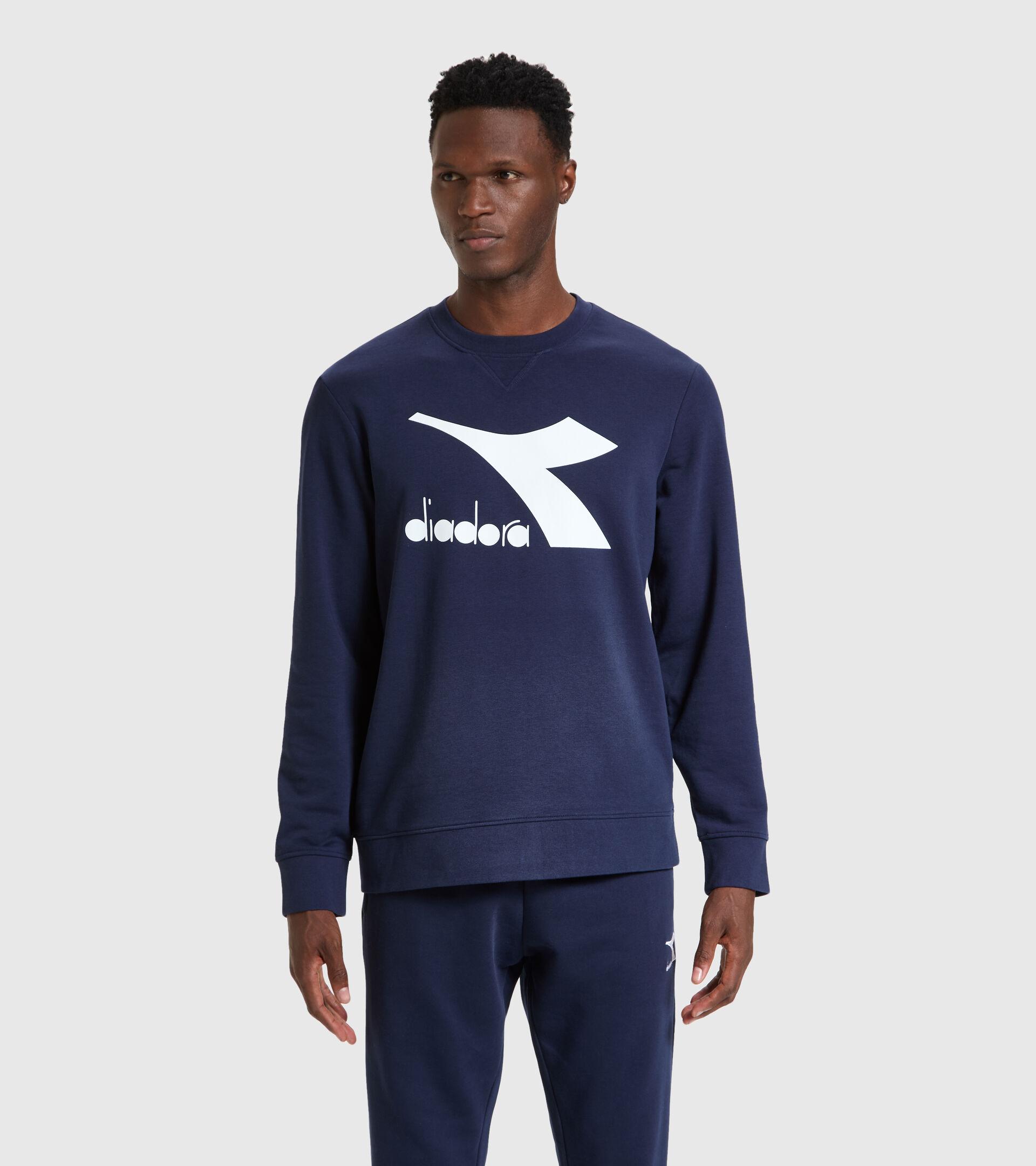 Crew-neck sweatshirt - Men SWEATSHIRT CREW LOGO CHROMIA CLASSIC NAVY - Diadora