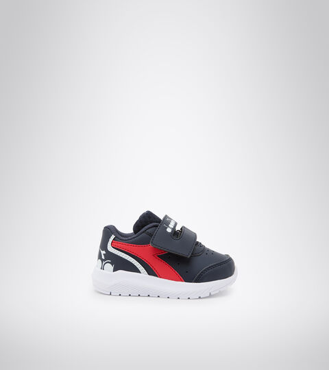 Running shoe - Unisex kids FALCON SL I BLUE CORSAIR /HIGH RISK RED - Diadora