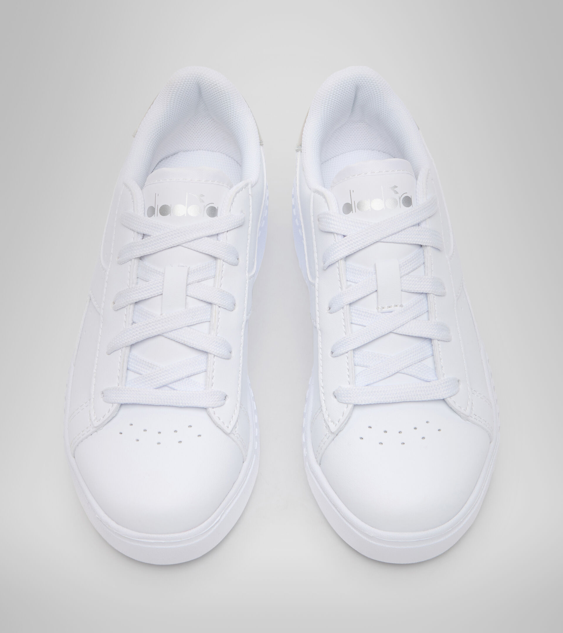 Footwear Sport BAMBINO GAME STEP PS WHITE/SILVER Diadora