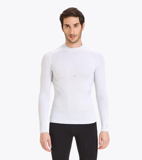 T-shirt d'entraînement à manches longues - Homme LS TURTLE NECK ACT BLANC VIF - Diadora