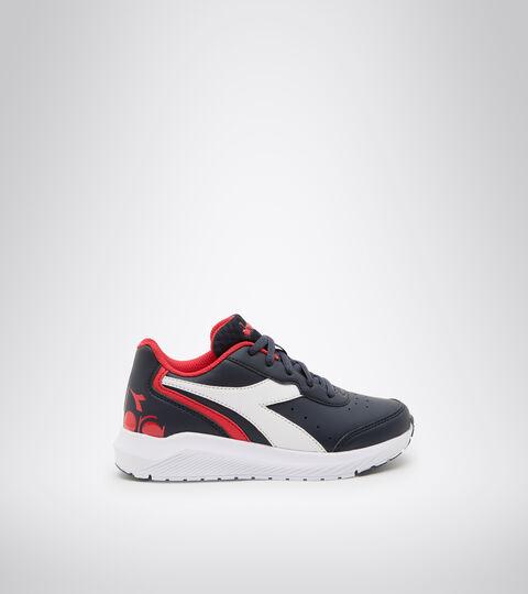 Chaussures de running - Unisexe Enfant FALCON SL JR BLEU DOMAINE/ROUGE HAUT RISQUE - Diadora