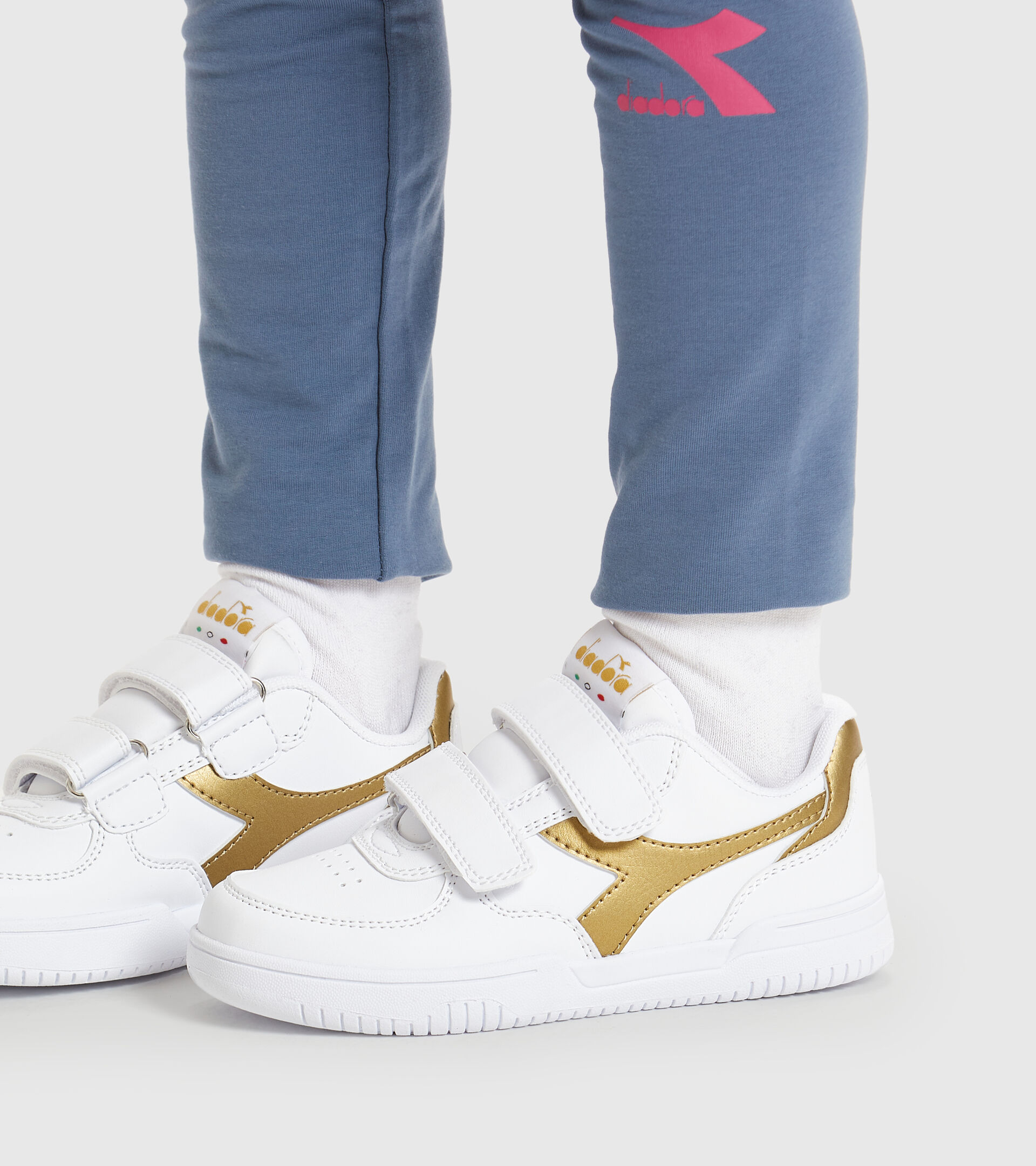 Footwear Sport BAMBINO RAPTOR LOW PS BLANCO/ORO MARRON Diadora