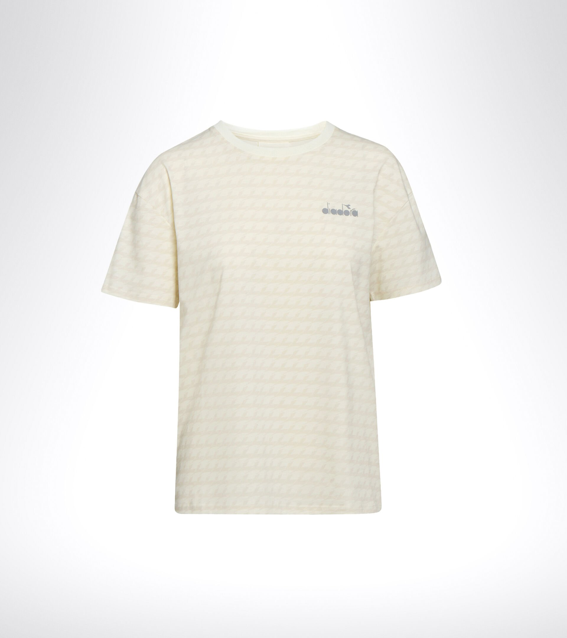 Apparel Sport DONNA L. SS T-SHIRT PLUS BE ONE ALL OVER WHISPER WHITE Diadora
