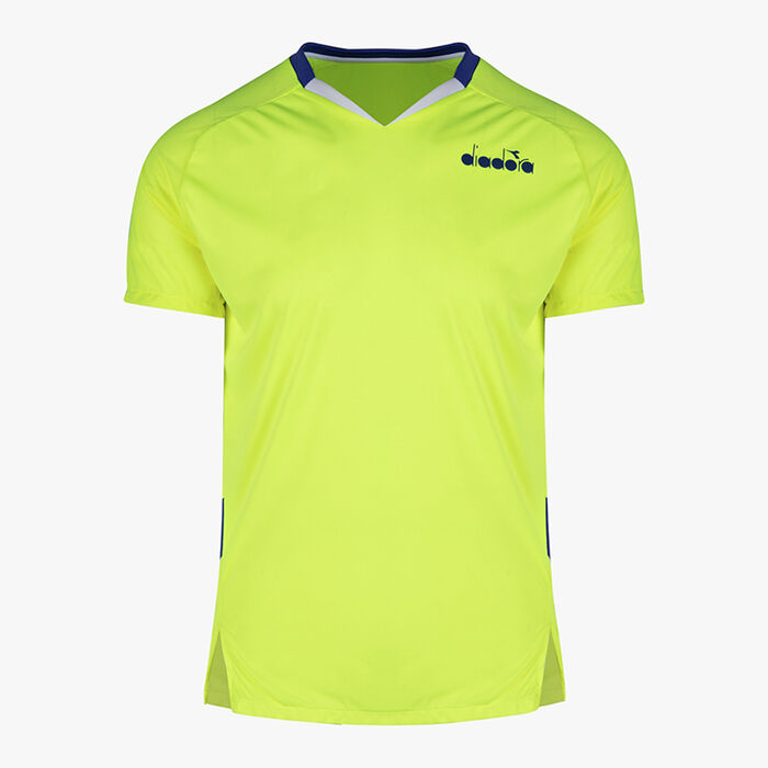 T-SHIRT, FLUO YELLOW DD, large