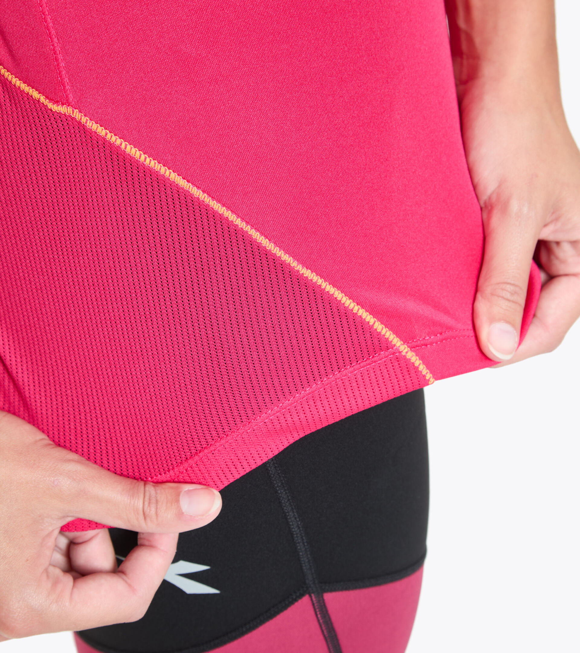 Camiseta para correr - Mujer L. X-RUN SS T-SHIRT ROSA VIRTUAL - Diadora