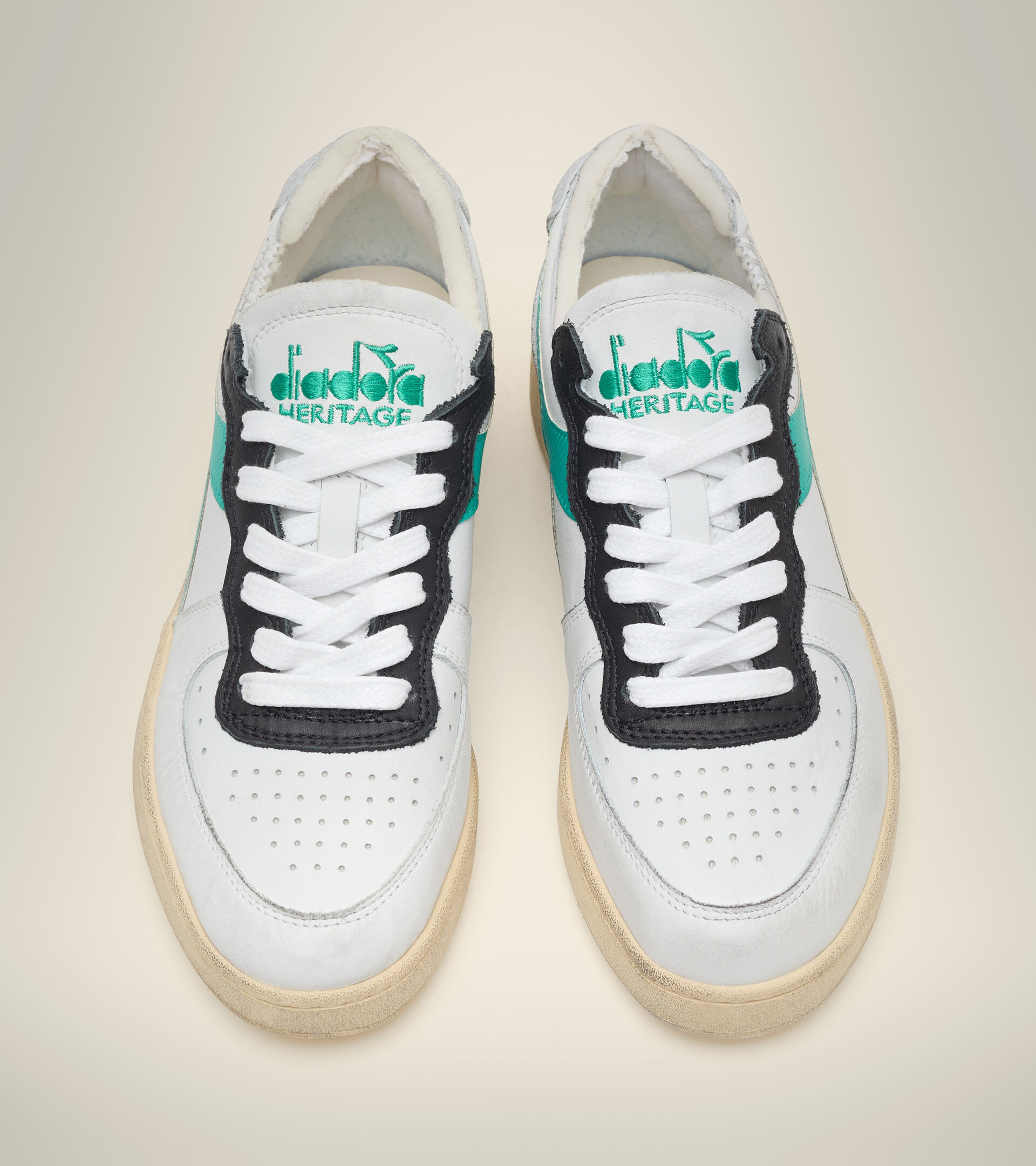Heritage-Schuh - Unisex MI BASKET ROW CUT WSS/HOCHHAUS/PFAU GRUEN - Diadora
