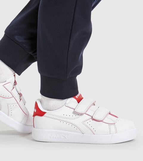 Footwear Sport BAMBINO GAME P SMASH PS BIANCO/TOMATO RED Diadora