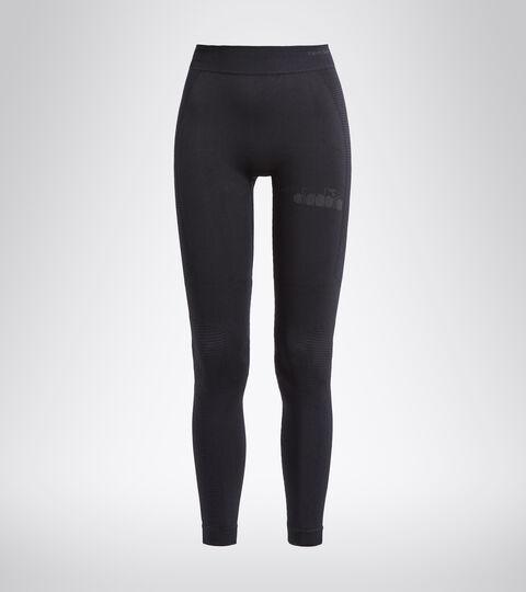 Pantalon de running Made in Italy - Femme L. HIDDEN POWER PANTS NOIR - Diadora