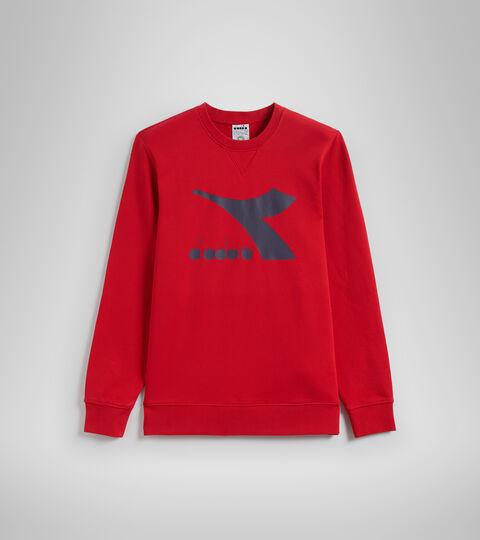 Apparel Sport UOMO SWEATSHIRT CREW LOGO CHROMIA TANGO RED Diadora