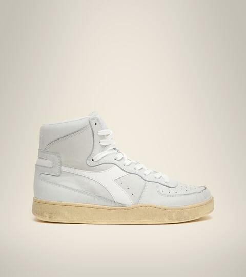 Footwear Heritage UNISEX MI BASKET USED WHITE /WHITE Diadora