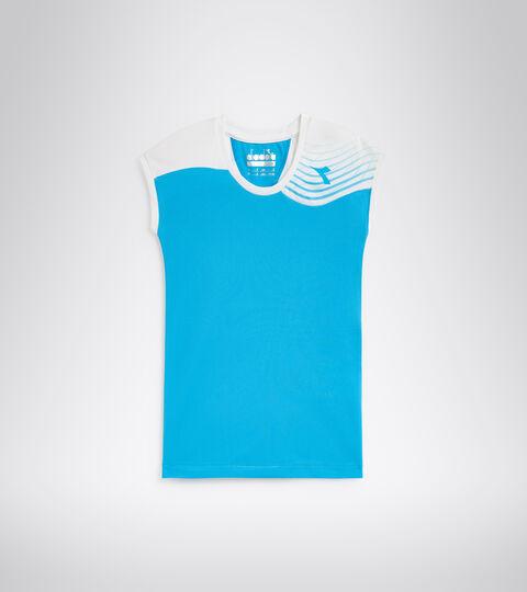 Tennis-T-Shirt - Junior G. T-SHIRT COURT KONIGSBLAU FLUO - Diadora