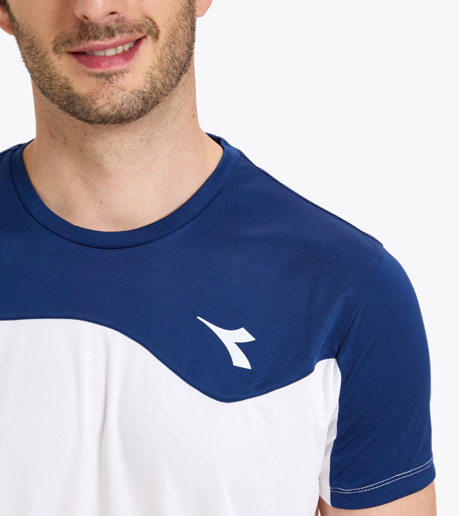 Tennis T-shirt - Men T-SHIRT TEAM SALTIRE NAVY - Diadora
