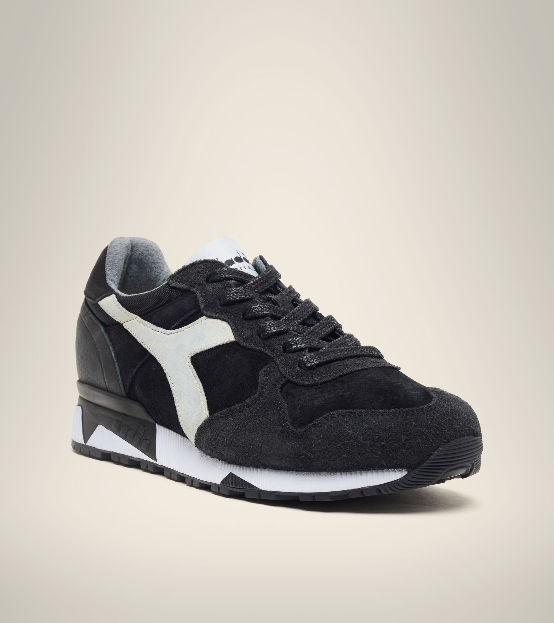 Made in Italy Heritage shoe - Men TRIDENT 90 LEATHER BLACK - Diadora