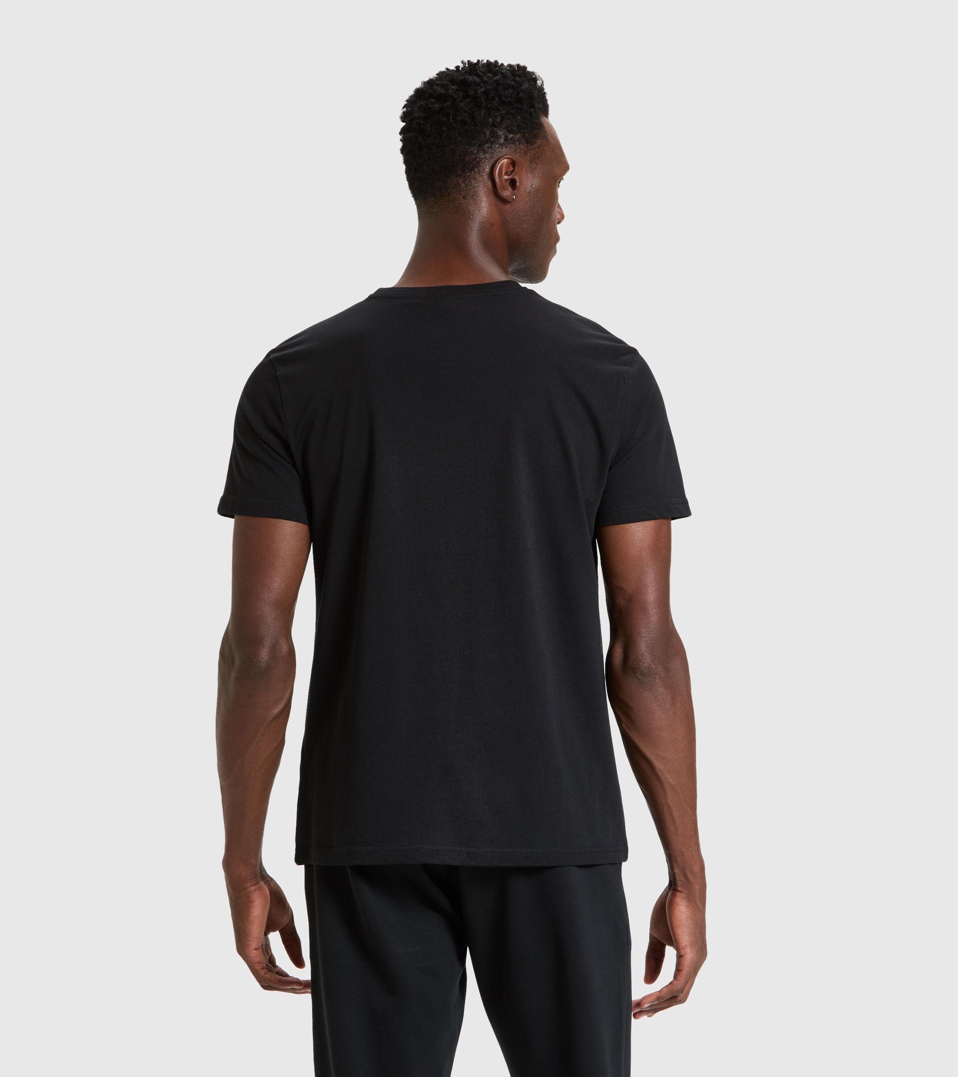 T-Shirt - Herren T-SHIRT SS CHROMIA SCHWARZ - Diadora