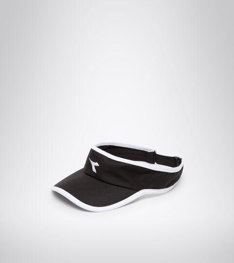 Visiera da tennis - Unisex VISOR BLACK/OPTICAL WHITE - Diadora