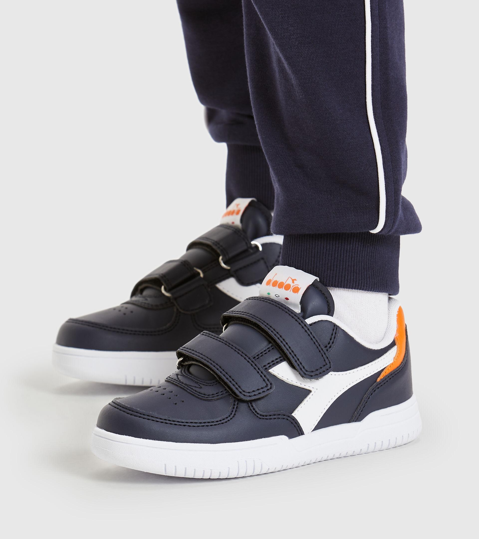 Footwear Sport BAMBINO RAPTOR LOW PS BLUE CORSAIR/WHITE Diadora
