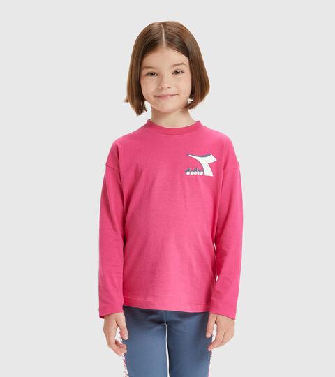 T-shirt - Kids JU.LS T-SHIRT CUBIC MAGENTA - Diadora