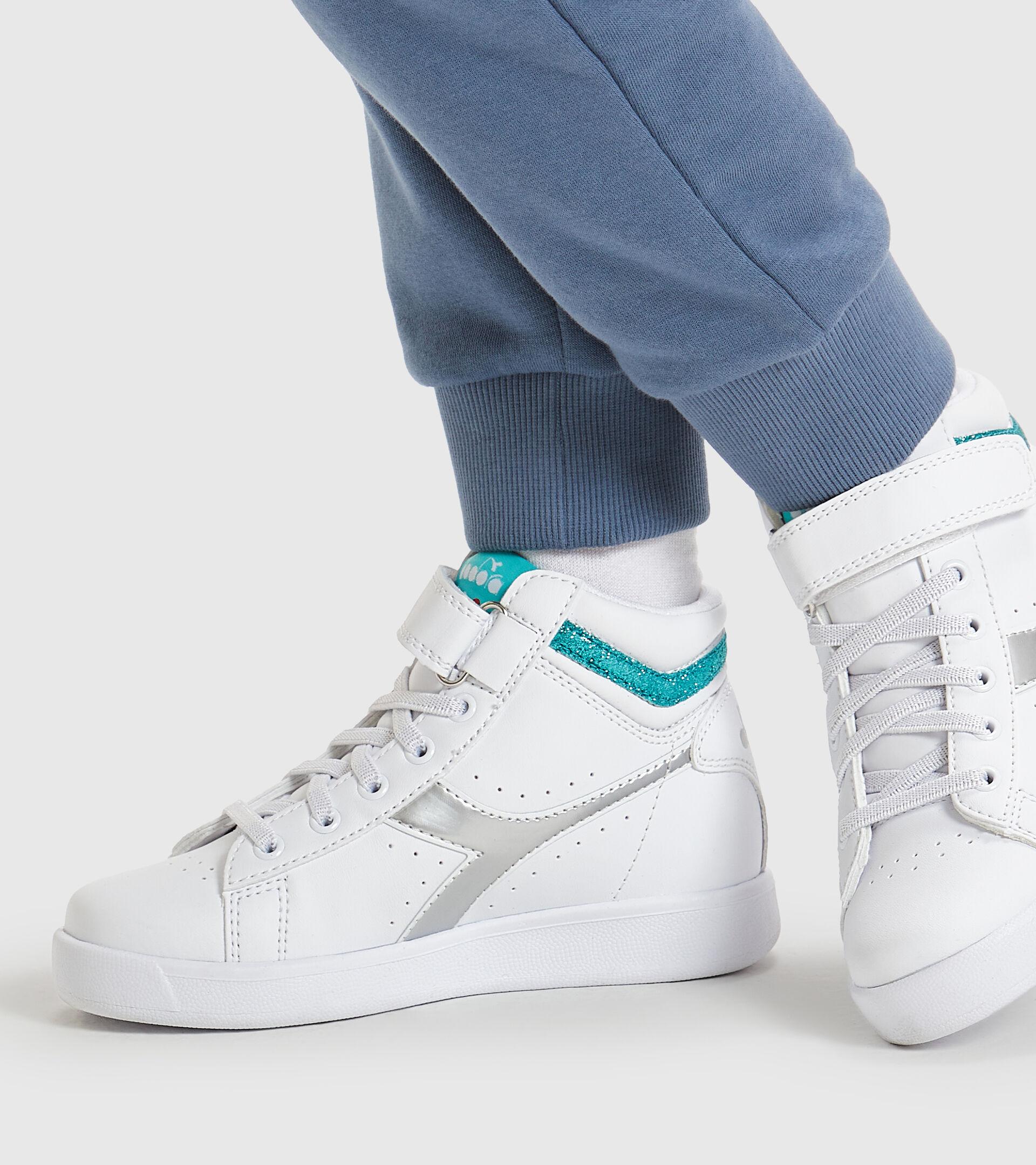 Footwear Sport BAMBINO GAME P HIGH GIRL PS BIANCO/AZZURRO TURCHESE Diadora