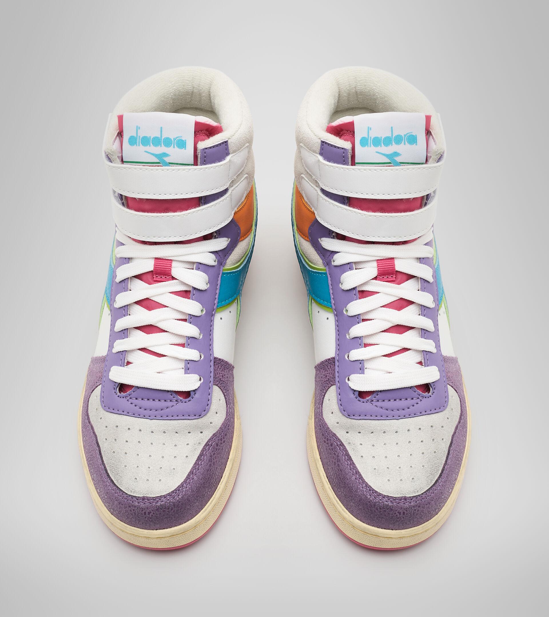 Sports shoe - Women MAGIC BASKET MID ICONA WN ENGLISH LAVENDER/WHITE - Diadora