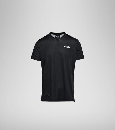 Camiseta de tenis - Hombre T-SHIRT EASY TENNIS NEGRO - Diadora