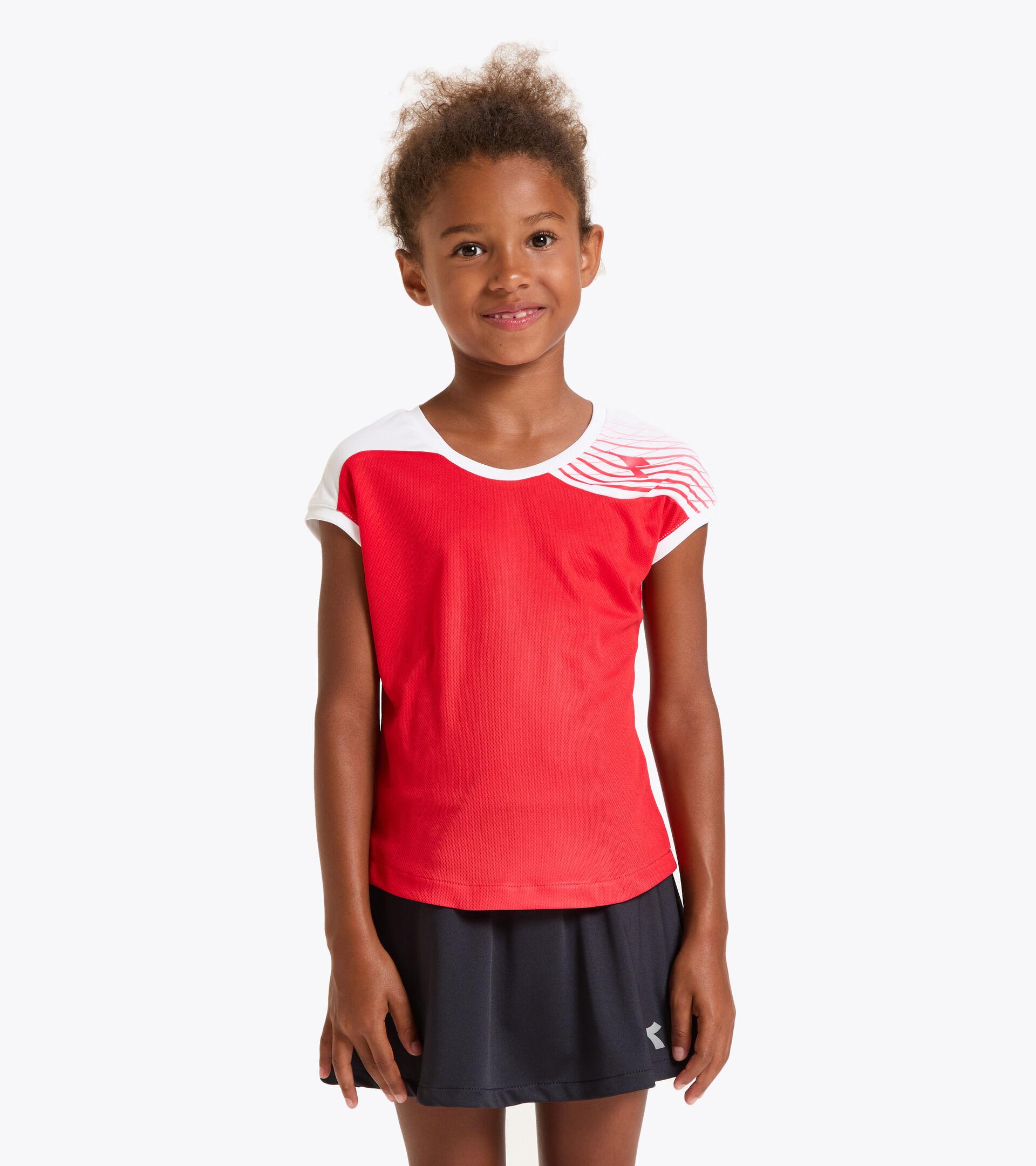 Tennis-T-Shirt - Junior G. T-SHIRT COURT TOMATENROT - Diadora