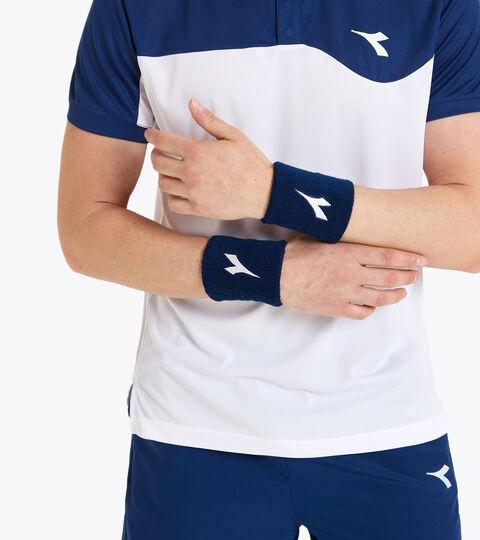 Accessories Sport UNISEX WRISTS BAND COURT LARGE SALTIRE NAVY Diadora