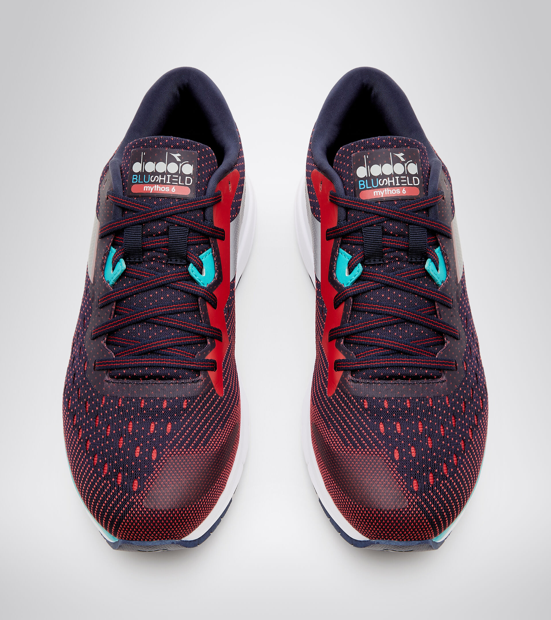 Footwear Sport UOMO MYTHOS BLUSHIELD 6 BLU CORSARO/ROSSO LYCHEE Diadora