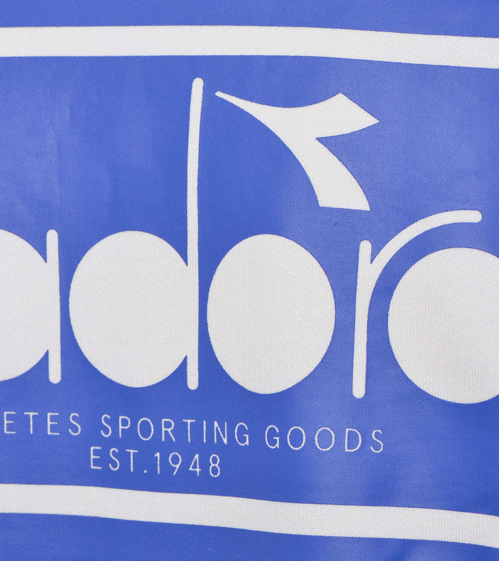 Apparel Sportswear UOMO SWEATSHIRT CREW SPECTRA ORANGEADE/WHITE MILK Diadora