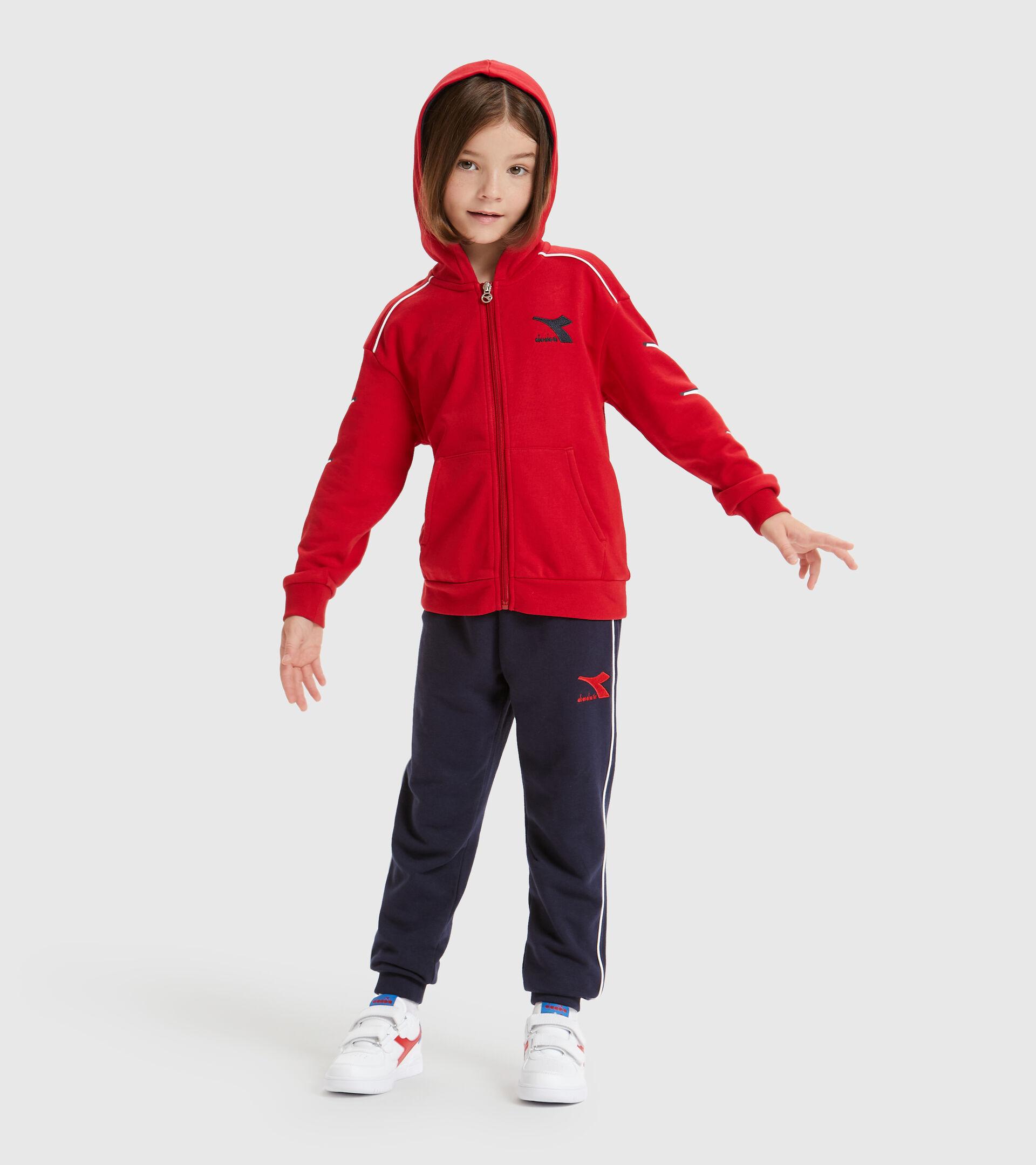 Trainingsanzug - Kinder JU.HD FZ TRACKSUIT CUBIC TANGOROT - Diadora