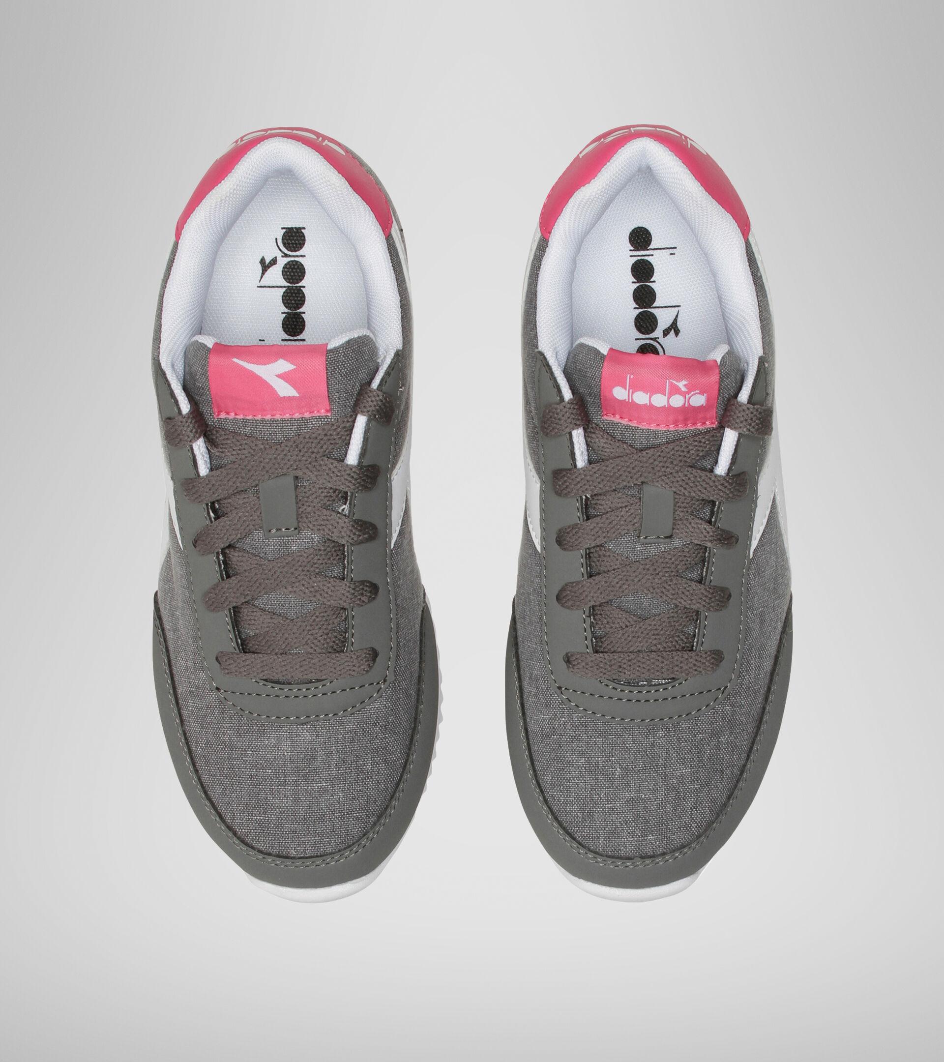 Sports shoes - Youth 8-16 years JOG LIGHT GS CHARCOAL GRAY/FANDANGO PINK - Diadora