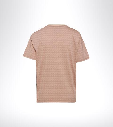 Sports T-shirt - Women L. SS T-SHIRT PLUS BE ONE ALL OVER MAHOGANY ROSE - Diadora