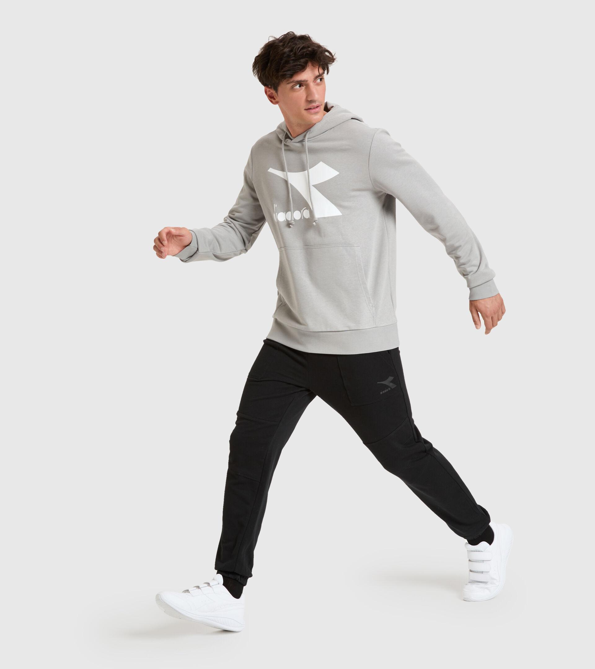 Hooded sweatshirt - Men HOODIE BIG LOGO GRAY MOUSE - Diadora