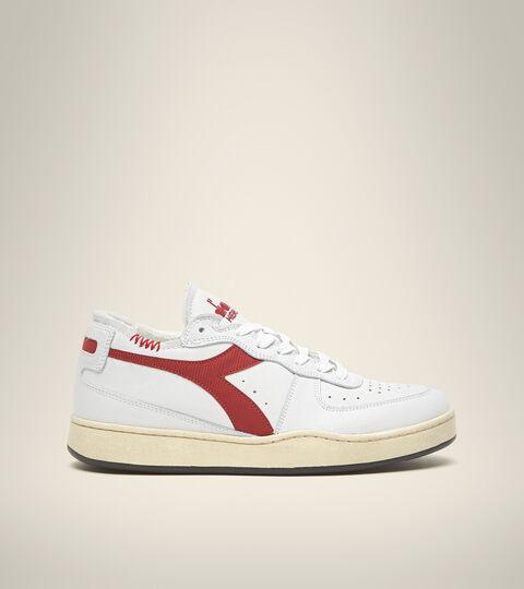 Footwear Heritage UNISEX MI BASKET ROW CUT WHITE/GARNET Diadora