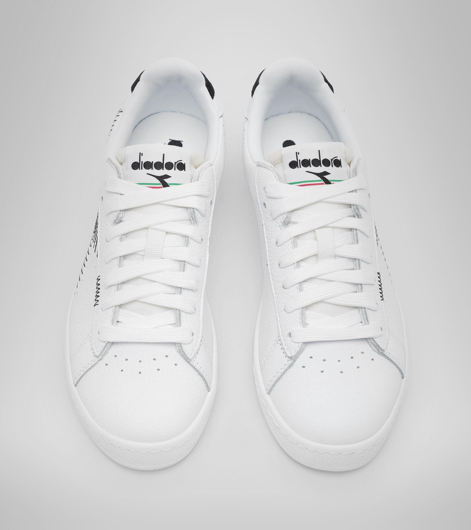 Footwear Sportswear DONNA GAME L LOW ZIG ZAG WN BLANCO VIVO/NEGRO Diadora