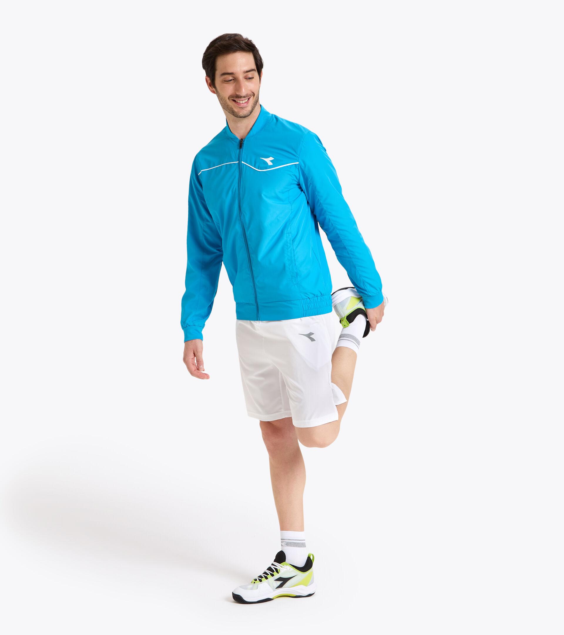 Chaqueta de tenis - Hombre JACKET COURT AZUL REAL FLUO - Diadora