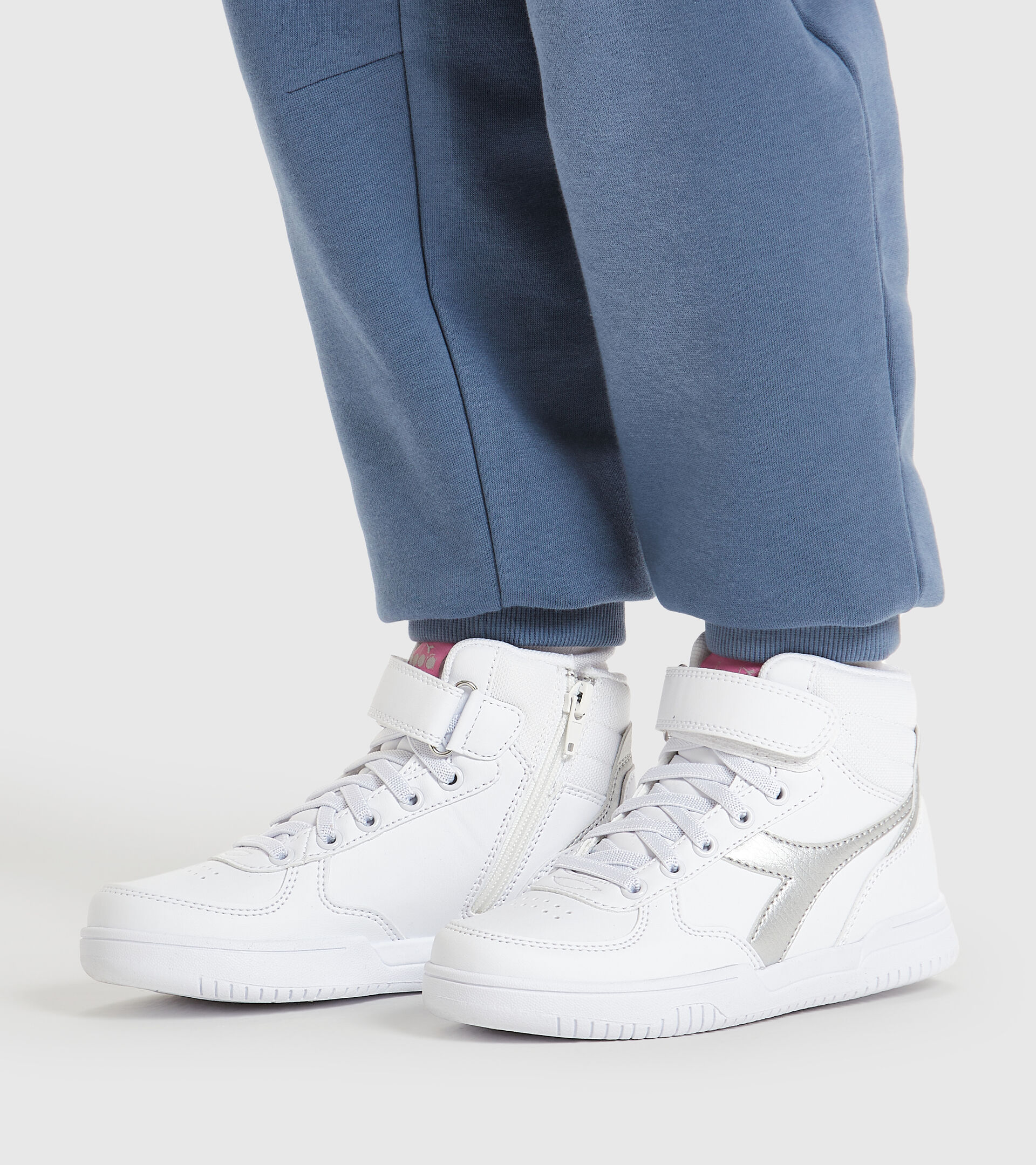 Chaussures de sport - Enfants 4-8 ans RAPTOR MID PS WEISS/ARGENT - Diadora