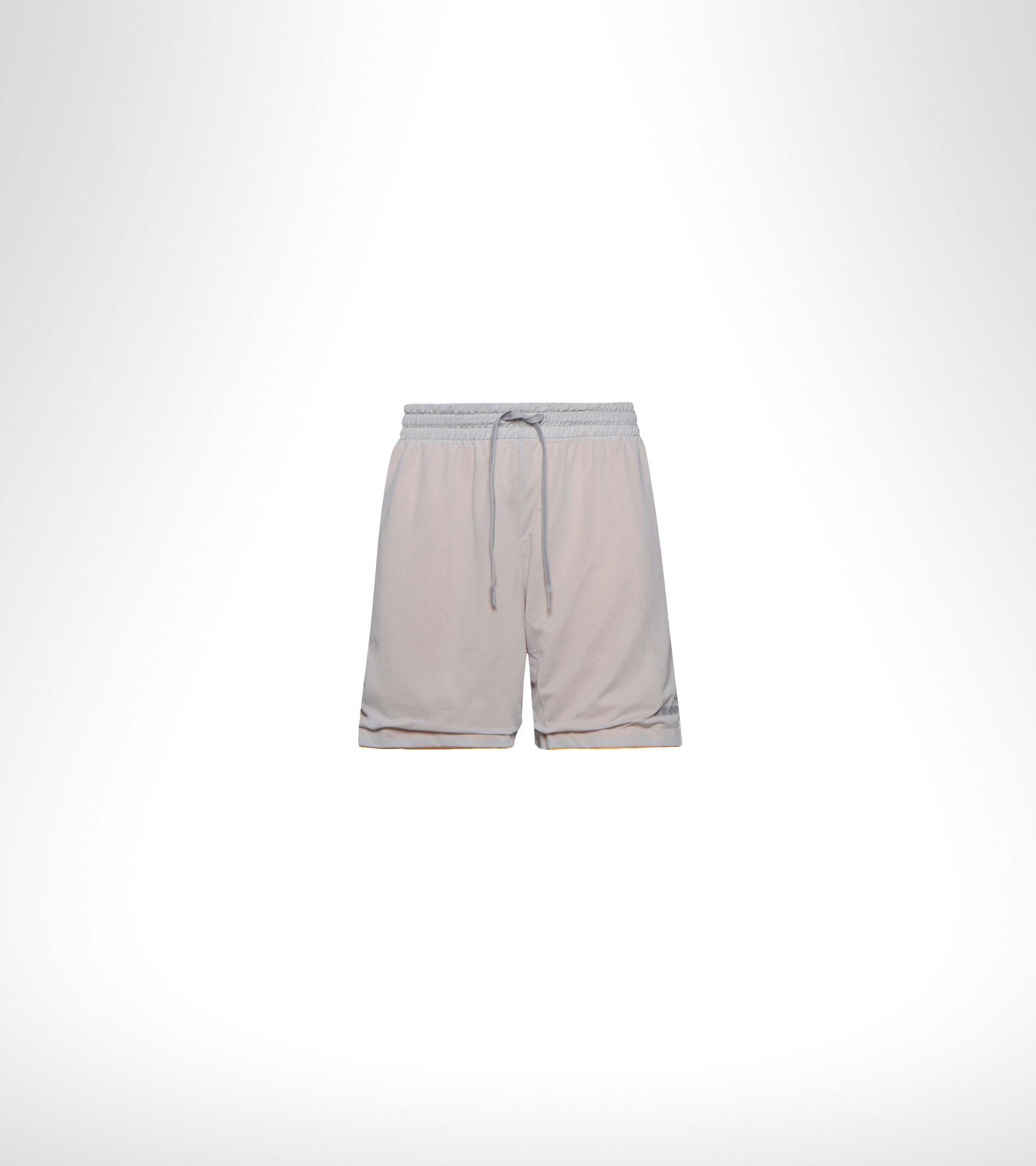 Double-face running shorts - Men BERMUDA REVERSIBLE BE ONE GRAY QUIET SHADE/SAFFRON - Diadora
