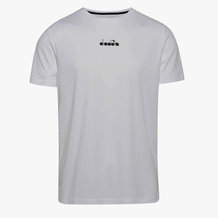 SS T-SHIRT EASY TENNIS, BLANC OPTIQUE, large