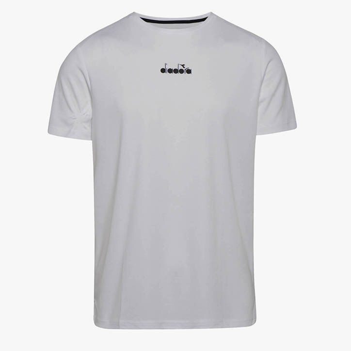 SS T-SHIRT EASY TENNIS, OPTICAL WHITE, large