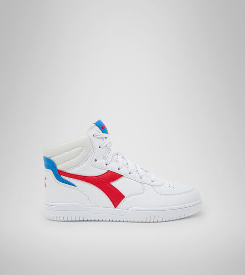 Sports shoes - Youth 8-16 years RAPTOR MID GS WHITE/TOMATO RED - Diadora