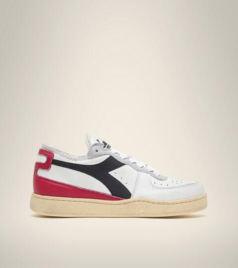Heritage shoe - Unisex MI BASKET ROW CUT WHITE/GARNET/BLACK - Diadora